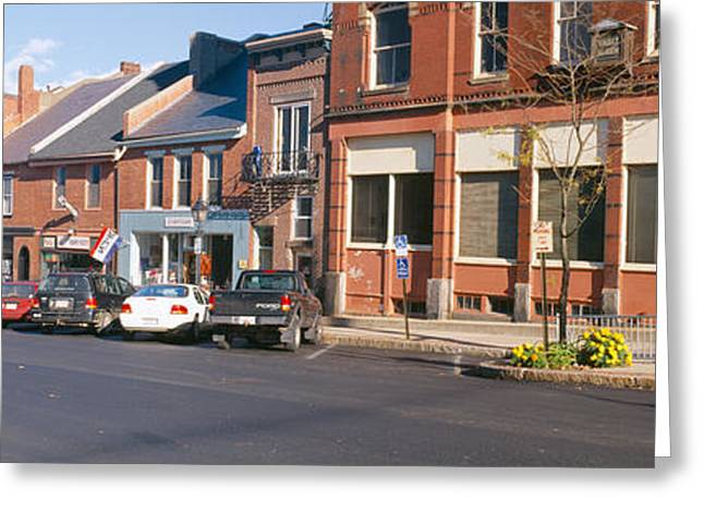 Belfast Greeting Cards - Main Street In Belfast, Maine Greeting Card by Panoramic Images