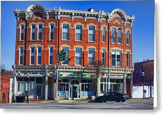 Main Street Greeting Cards - Main Street Greeting Card by June Marie Sobrito