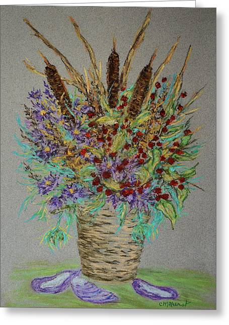 Maine Pastels Greeting Cards - Maine Bouquet Greeting Card by Collette Hurst