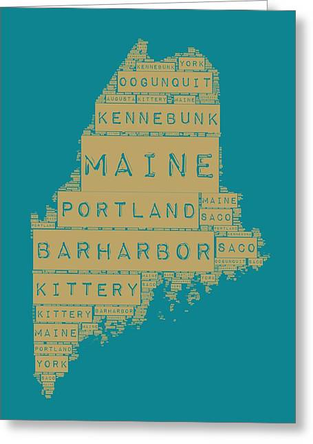 Maine Greeting Card by Brandi Fitzgerald