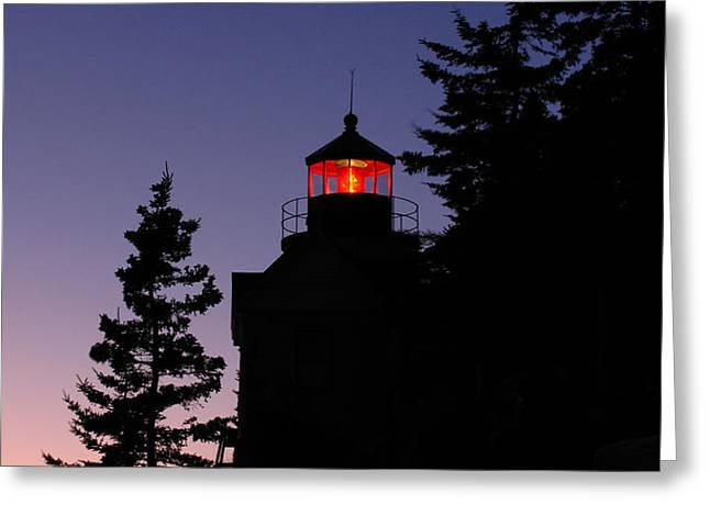 Maine Lighthouse Greeting Card by Juergen Roth