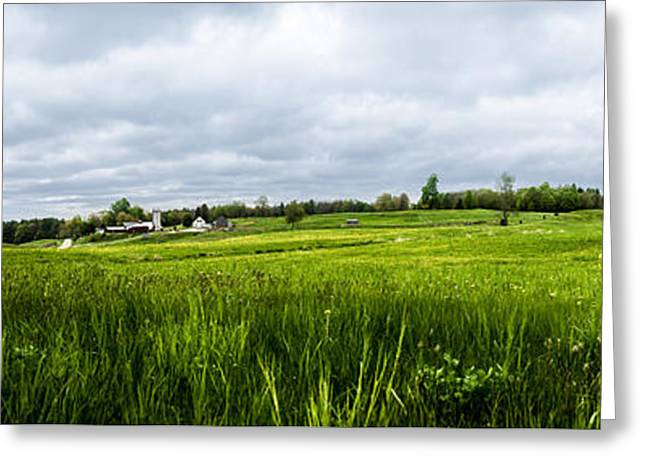 Maine Spring Greeting Cards - Maine Mountain Top Farm Greeting Card by Bob Orsillo