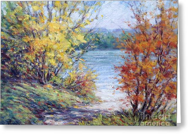 Maine October Greeting Card by Vickie Fears