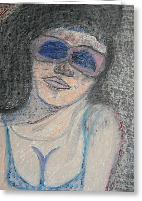 Bikinis Pastels Greeting Cards - Maine Woman Greeting Card by Marwan George Khoury
