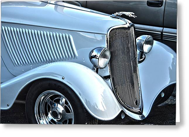 Classic Ford Greeting Cards - Mainstream Class Vintage Ford Car Art Greeting Card by Lesa Fine