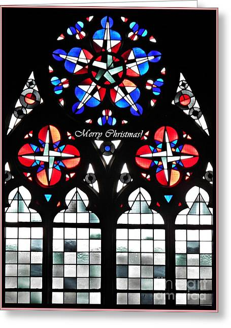 Mainz Cathedral Window Card 1 Greeting Card by Sarah Loft