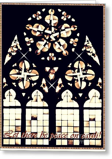 Mainz Cathedral Window Card 2 Greeting Card by Sarah Loft