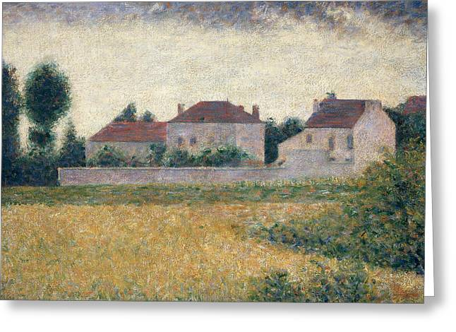 Seurat Greeting Cards - Maisons Blanches  Greeting Card by Georges Pierre Seurat