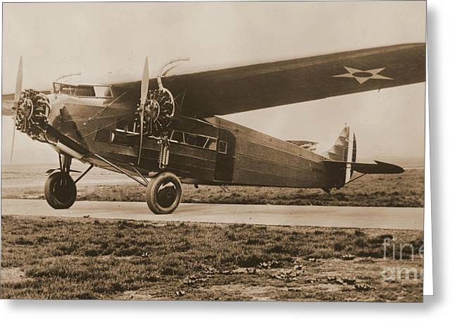 Tri-motor Greeting Cards - Maitlands Fokker Tri Motor Airplane Greeting Card by Padre Art