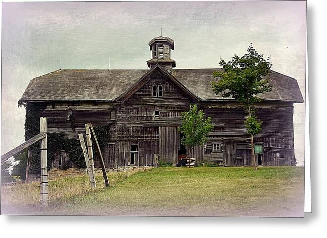 Old Barns Greeting Cards - Majestic Barn in the Midwest Greeting Card by Toni Abdnour