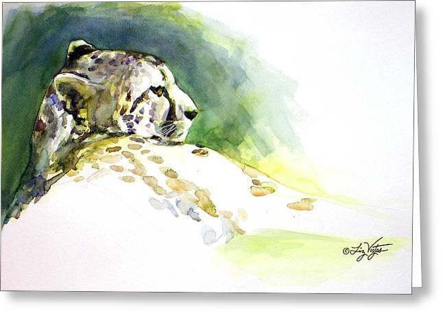 Liz Viztes Greeting Cards - Majestic Cheetah Greeting Card by Liz Viztes
