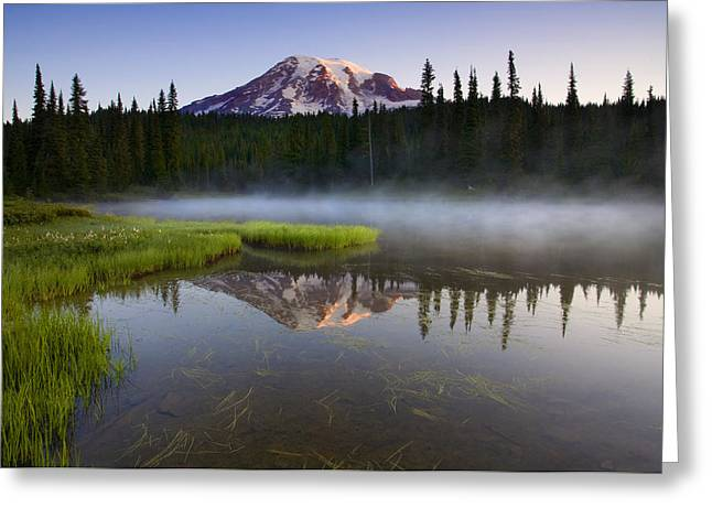 Reflection Lake Greeting Cards - Majestic Dawn Greeting Card by Mike  Dawson