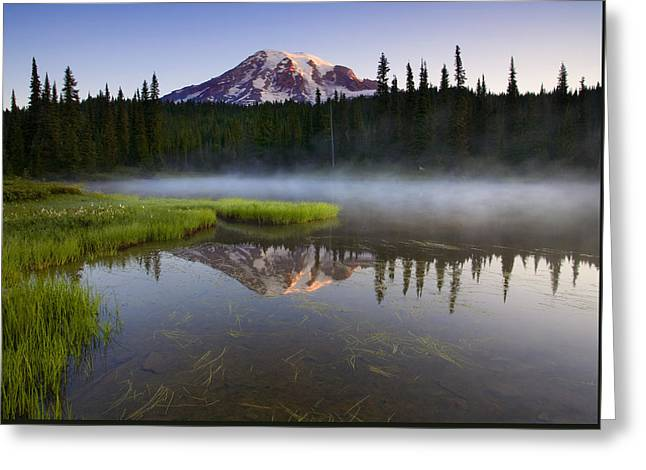 Lake Greeting Cards - Majestic Dawn Greeting Card by Mike  Dawson