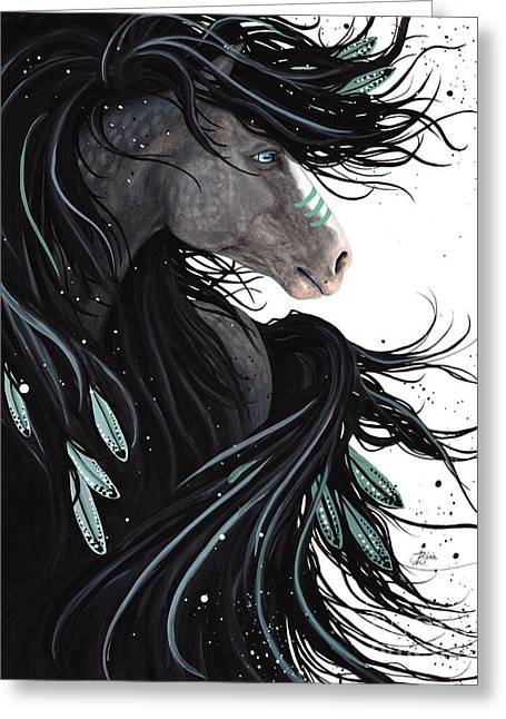Abstract Horse Greeting Cards - Majestic Dreams #138 Greeting Card by AmyLyn Bihrle