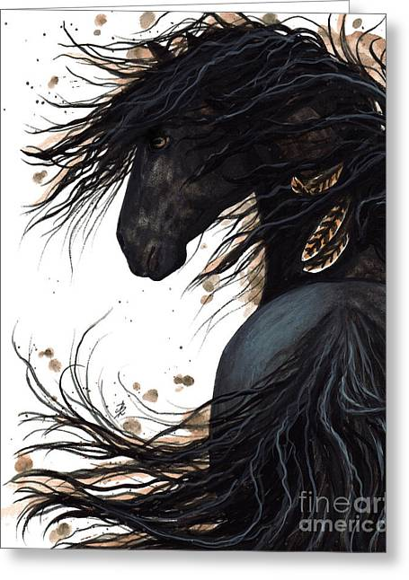 Majestic Friesian 143 Greeting Card by AmyLyn Bihrle