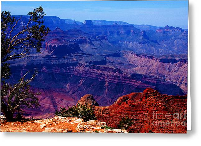 The Grand Canyon Greeting Cards - Majestic Grand Canyon Greeting Card by Susanne Van Hulst
