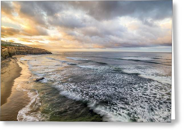 California Ocean Photography Greeting Cards - Majestic Morning Greeting Card by Joseph S Giacalone
