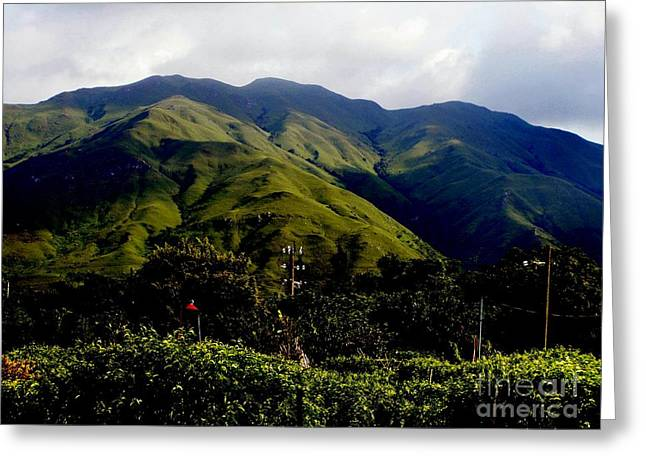 Hong Kong Greeting Cards - Majestic mountains Greeting Card by Kathy Daxon