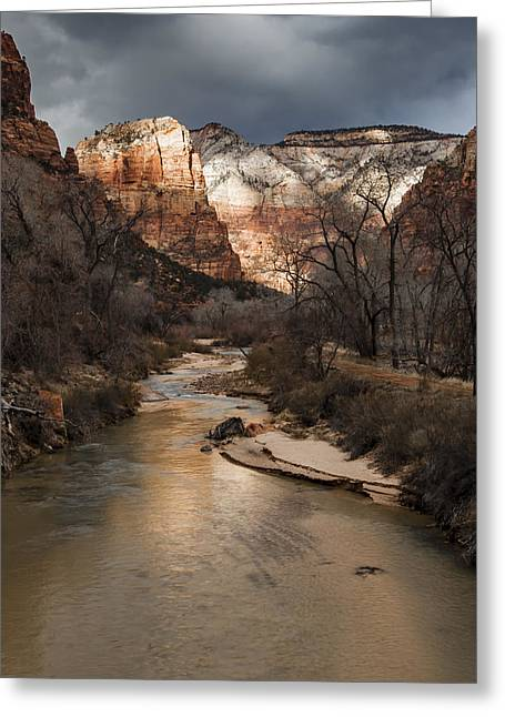 Rob Travis Greeting Cards - Majestic Mountains-Zion Greeting Card by Rob Travis