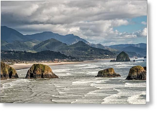 Ocean Panorama Greeting Cards - Majestic Ocean Greeting Card by David Gilbert