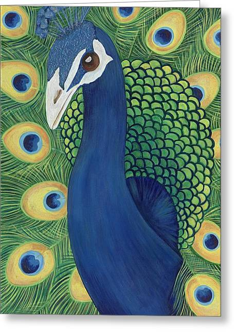 Lisa Bentley Greeting Cards - Majestic Peacock Greeting Card by Lisa Bentley