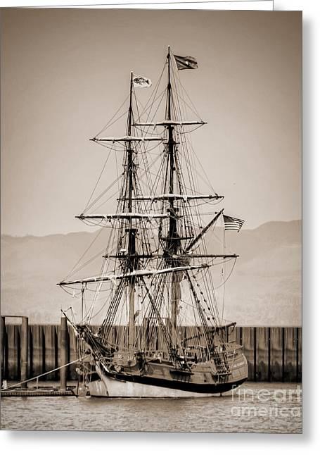 Sailboat Ocean Greeting Cards - Majestic Sailboat Greeting Card by Tina Wentworth