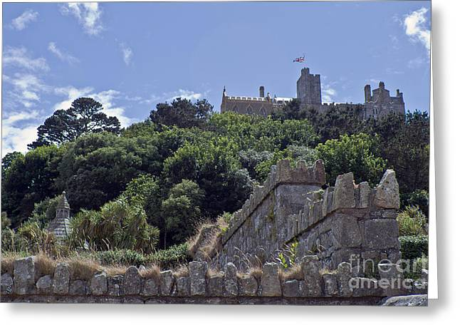 Sand Castles Greeting Cards - Majestic St Michaels Mount Greeting Card by Terri  Waters