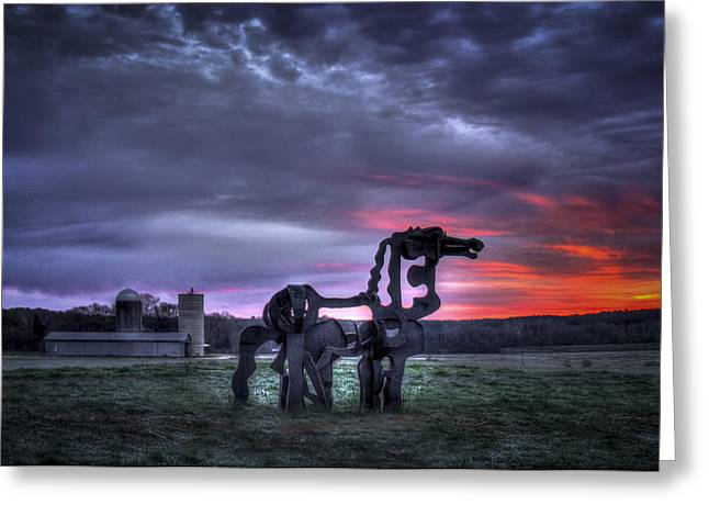 Majestic Sunrise The Iron Horse Greeting Card by Reid Callaway