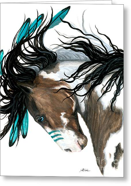 Majestic Turquoise Greeting Card by AmyLyn Bihrle
