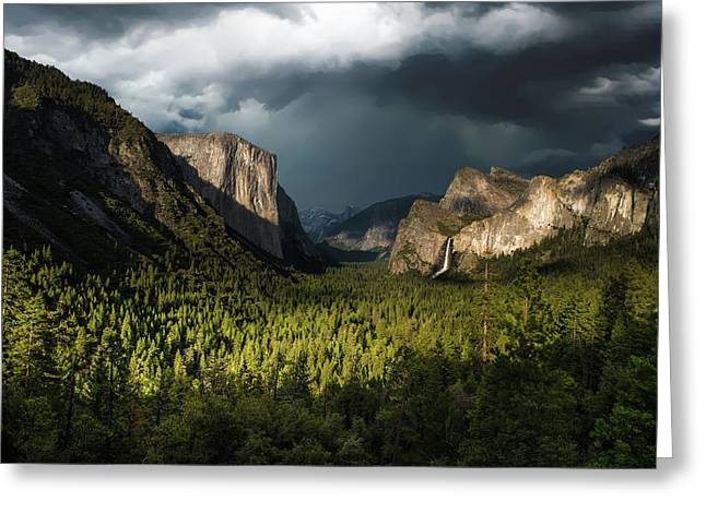 Majestic Yosemite National Park Greeting Card by Larry Marshall