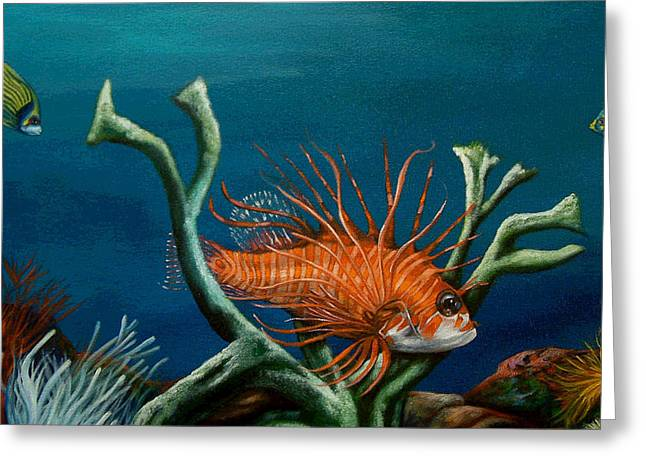 Aquarium Fish Greeting Cards - Majesty  Greeting Card by Visions Of  James