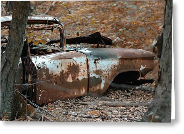 Rusted Cars Photographs Greeting Cards - Major Break Down Greeting Card by Ross Powell