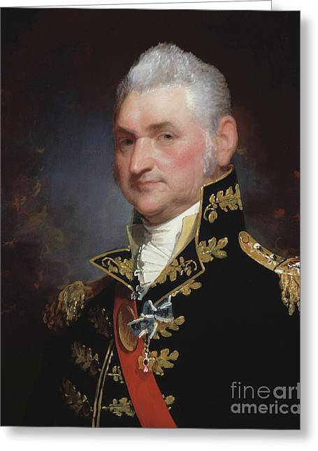 Major General Henry Dearborn Greeting Card by Gilbert Stuart