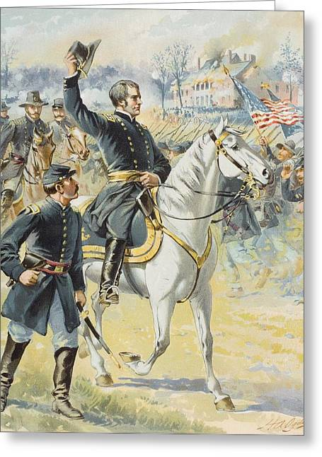Engagement Picture Greeting Cards - Major General Hooker At The Battle Of Greeting Card by Ken Welsh