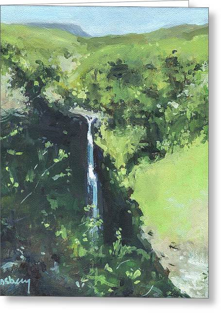 Makahiku Falls Greeting Card by Stacy Vosberg