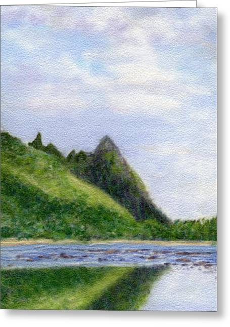 Makana Reflection Greeting Card by Kenneth Grzesik