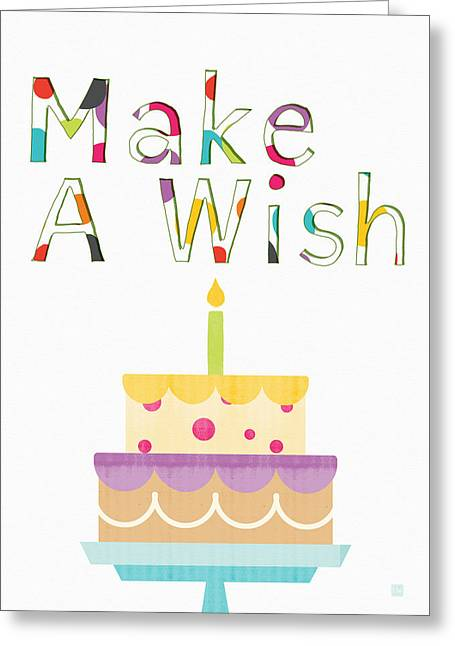 Make A Wish- Art By Linda Woods Greeting Card by Linda Woods
