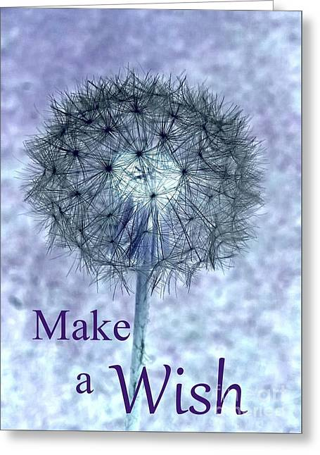 Wishes Greeting Cards - Make a Wish Greeting Card by Tania Eddingsaas