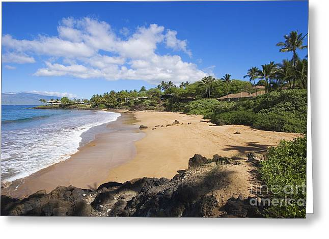 Chang Greeting Cards - Makena, Changs Beach Greeting Card by Ron Dahlquist - Printscapes