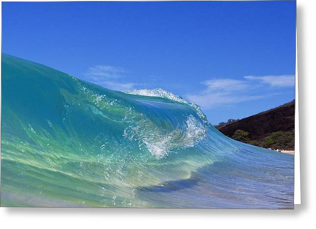 Shorebreak Greeting Cards - Makena Glass Greeting Card by James Roemmling