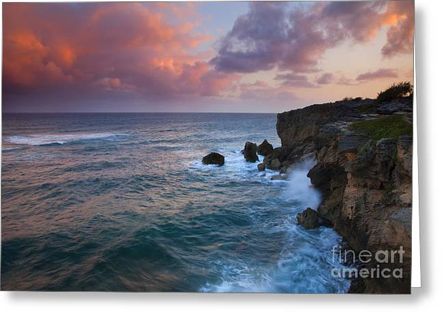 Crashing Greeting Cards - Makewehi Sunset Greeting Card by Mike  Dawson