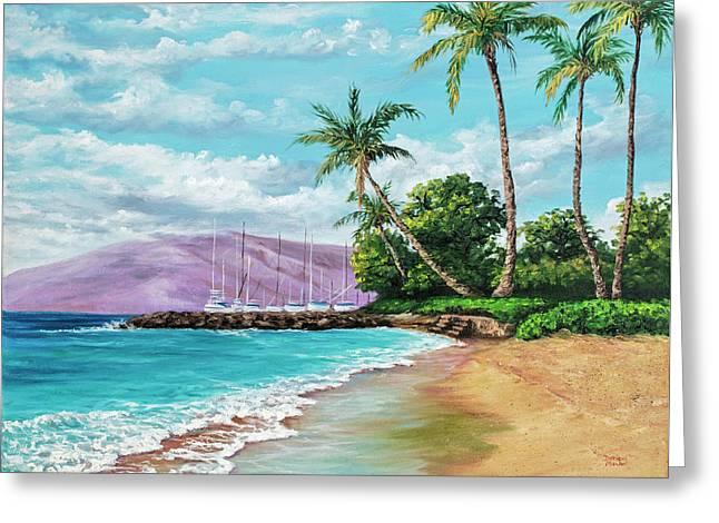 Makila Beach Greeting Card by Darice Machel McGuire