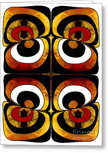 Making Eyes Of Abstract Bliss By Omashte Greeting Card by Omaste Witkowski