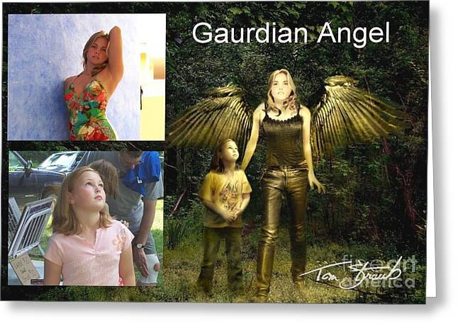 Paranormal Digital Greeting Cards - making Guardian Angel Greeting Card by Tom Straub