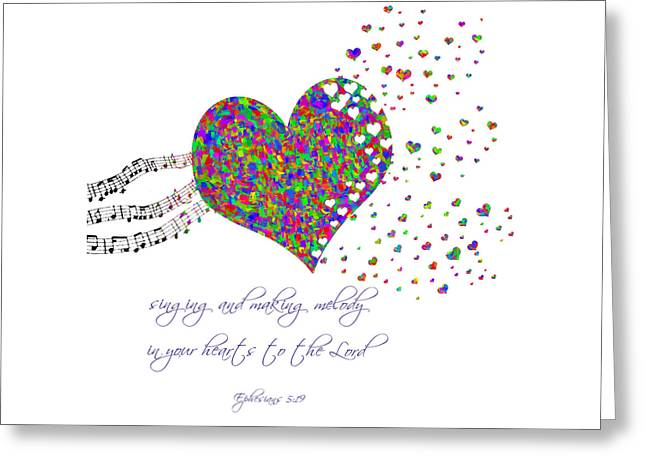 Make Music Heart Greeting Cards - Making melody in your heart Greeting Card by Denise Beverly