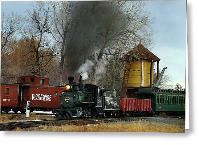 Colorado Railroad Museum Greeting Cards - Making Way Greeting Card by Ken Smith