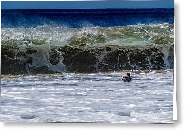 Beach Photography Greeting Cards - Makua Sand Monster 1 Greeting Card by Chris and Wally Rivera