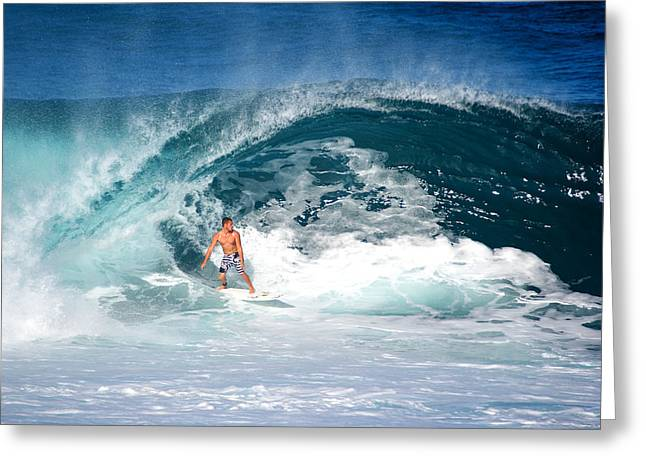Banzai Pipeline Greeting Cards - Makuakais Artwalk Greeting Card by Kevin Smith