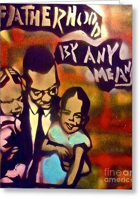 Recently Sold -  - Sit-ins Greeting Cards - Malcolm X Fatherhood 2 Greeting Card by Tony B Conscious