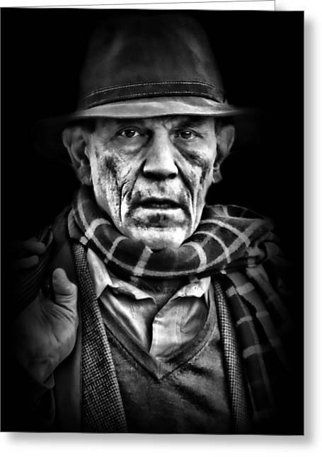 Candid Portraits Greeting Cards - Male-2 Greeting Card by Diana Angstadt